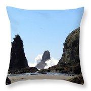Powerful Sea Throw Pillow