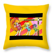 Powerpuff Girls Z Throw Pillow