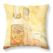 Powers Irish Whiskey Throw Pillow