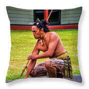 Powhiri 2 Throw Pillow