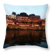 Prabhu Ghat Throw Pillow