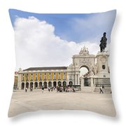 Praca Do Comercio, The Square Of Commerce Throw Pillow