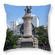 Praca Paris In Rio De Janeiro Throw Pillow