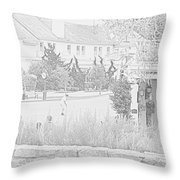 Practice Round At Pebble Beach Throw Pillow