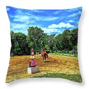 Practice Run Throw Pillow