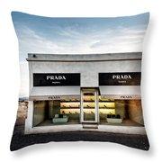 Prada Marfa Throw Pillow