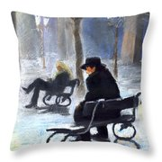 Prague Autumn Ray Throw Pillow