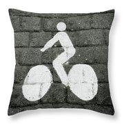 Prague Bike Lane-  By Linda Woods Throw Pillow