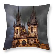 Prague Cathedral Throw Pillow