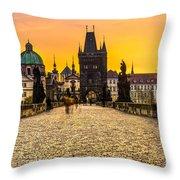 Prague - Charles Bridge - Czech Republic Throw Pillow