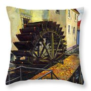Prague Chertovka Throw Pillow
