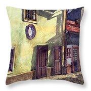 Prague Golden Line Street Throw Pillow by Yuriy  Shevchuk