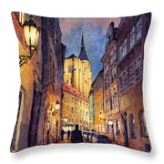 Prague Husova Street Throw Pillow by Yuriy  Shevchuk