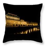 Prague National Theatre Throw Pillow