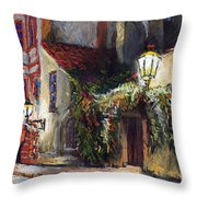 Prague Novy Svet Kapucinska Str Throw Pillow