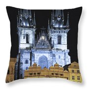 Prague Old Town Square Throw Pillow