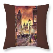 Prague Old Town Squere Throw Pillow