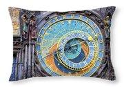 Prague Orloj Throw Pillow