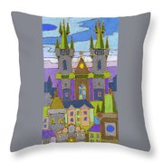 Prague Panorama Throw Pillow by Yuriy  Shevchuk