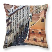 Prague Red Rooftops In The Old Town Throw Pillow