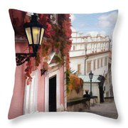 Prague Stairs Throw Pillow