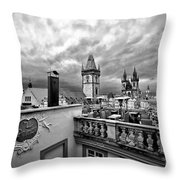 Prague View From The Top Throw Pillow