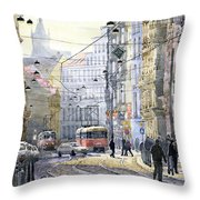 Prague Vodickova Str Throw Pillow