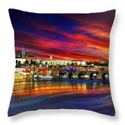 Pragues Historic Charles Bridge Throw Pillow