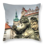 Praha Church Throw Pillow