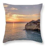 Praia Do Carvoeiro Sunset Throw Pillow