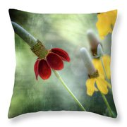 Prairie Coneflower Throw Pillow