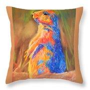 Prairie Dog 1 Throw Pillow