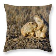 Prairie Dog Couple Throw Pillow