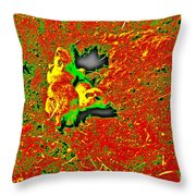 Prairie Dogs Abstract Throw Pillow
