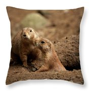 Prairie Dogs Throw Pillow