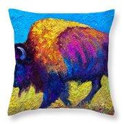 Prairie Dusk Throw Pillow