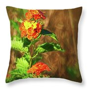 Prairie Flowers Throw Pillow