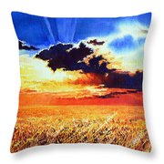 Prairie Gold Throw Pillow