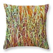 Prairie Grasses Throw Pillow