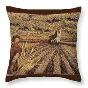 Prairie Harvest Throw Pillow