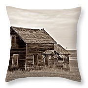 Prairie Home Sepia Throw Pillow