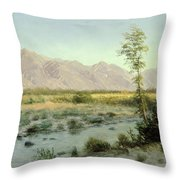 Prairie Landscape Throw Pillow