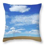 Prairie Landscape Alberta Canada Throw Pillow