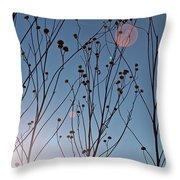 Prairie Plants Throw Pillow