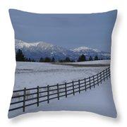 Prairie Snow Throw Pillow