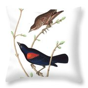 Prairie Starling Throw Pillow