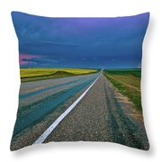 Prairie Storm Saskatchewan Throw Pillow