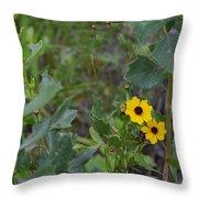 Prairie Tickseed Throw Pillow
