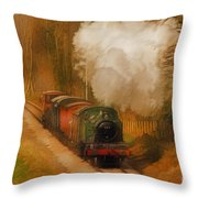 Prairie Train Throw Pillow by Skye Ryan-Evans