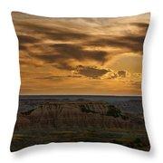 Prairie Wind Overlook Badlands South Dakota Throw Pillow